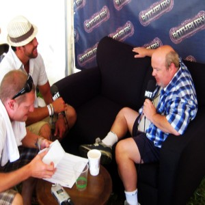 Tenacious D Interview (Kyle Gass) at Rothbury Music Festival on Moe Train's Tracks