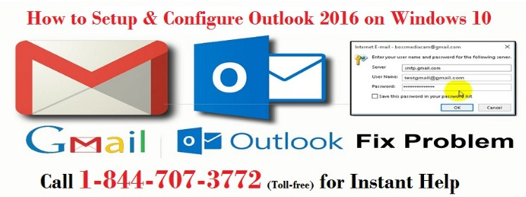Contact 1-844-707-3772 For Setup Outlook 2016 On Windows 10