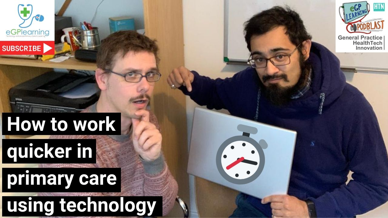 How to work quicker in primary care using technology
