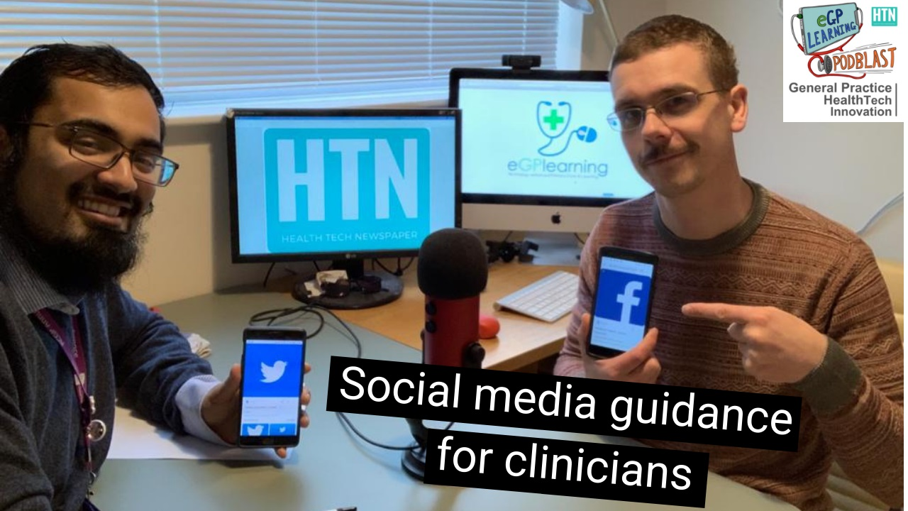 Social Media Guidance for clincians