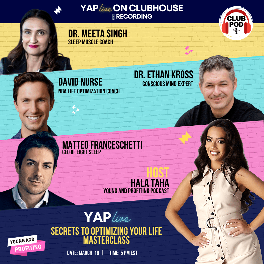 #YAPLive: Secrets to Optimize Your Life with David Nurse, Dr. Ethan Kross, Mateo Franceschetti and Dr. Meeta Singh Mohindra