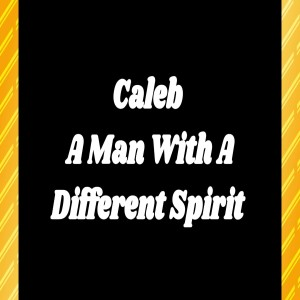 Caleb A Man With A Different Spirit