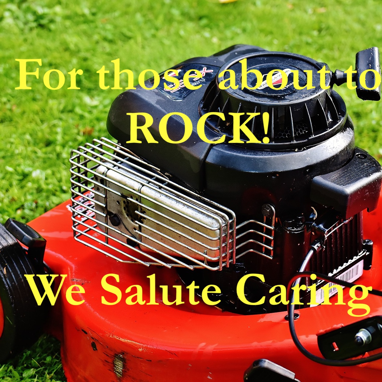 For those about to ROCK!  We Salute Caring