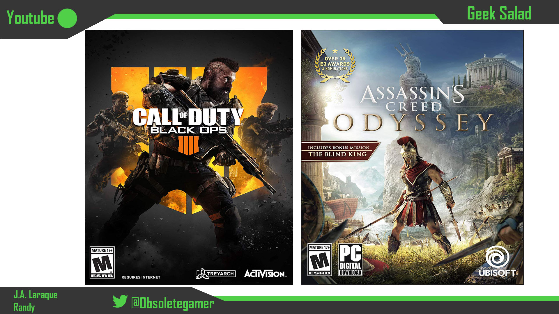 Geek Salad 13: Black Ops 4 & Assassin's Creed Odyssey Reviews