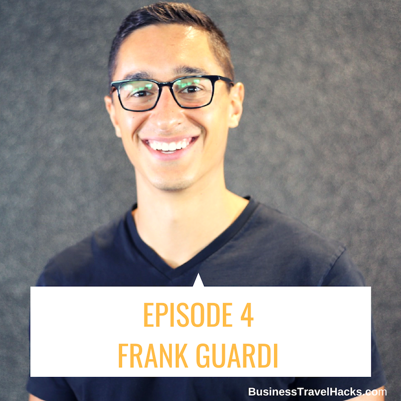 How does event professional and former athlete Frank Guardi hack his travel?