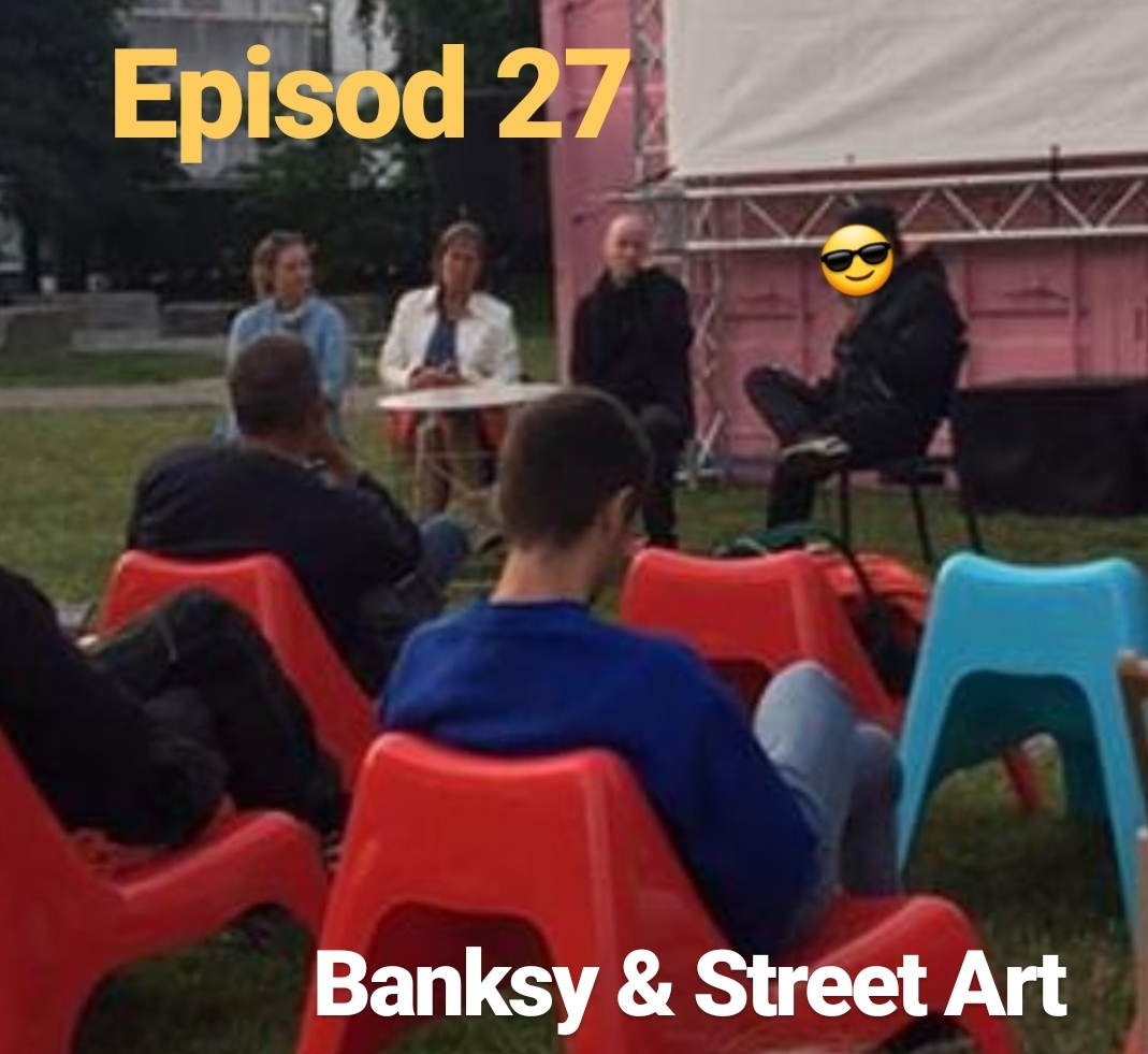 Episod 27. (IN ENGLISH) Banksy and street art. Panel discussion with Peter Bengtsen, Moa Sundberg and Kicki Eldh (Minisode)