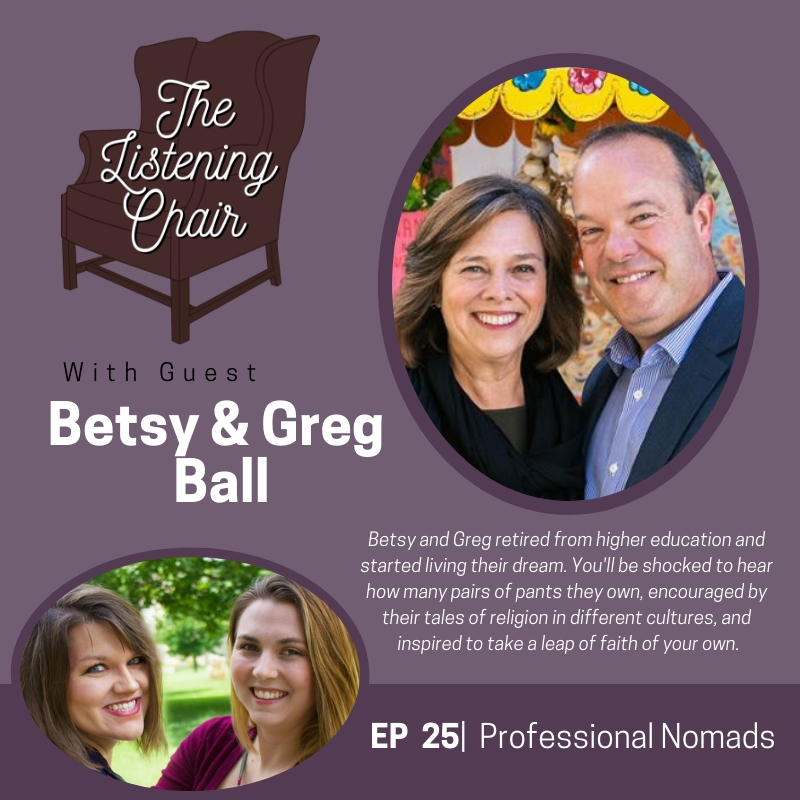 Episode 25: Betsy and Greg Ball - Professional Nomads