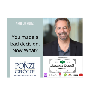 You made a bad decision.  Now what?