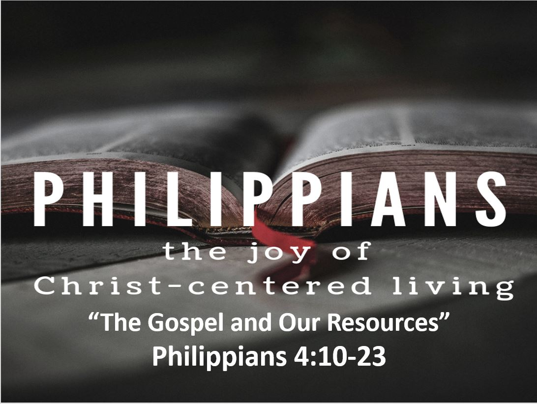 The Gospel and Our Resources