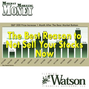 The Best Reason to Not Sell Your Stocks Now