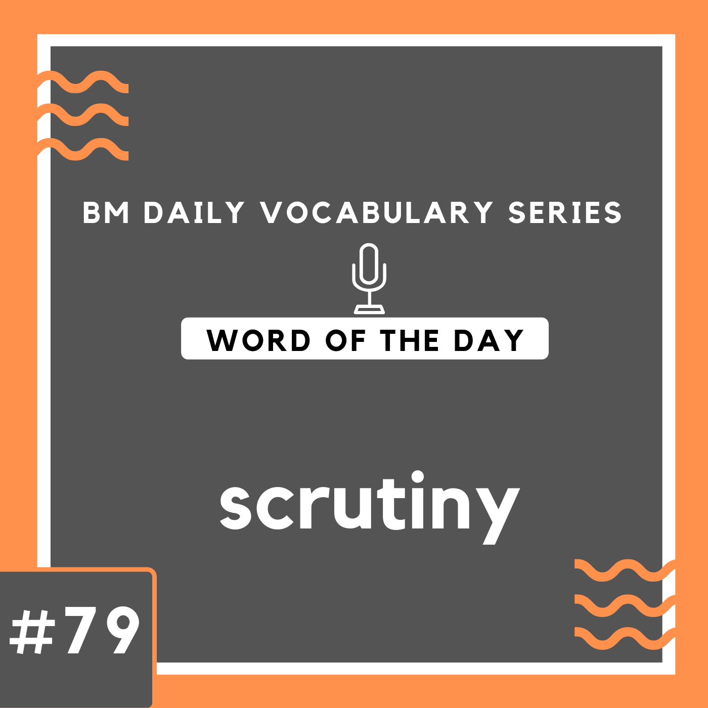 200 BM Daily Vocabulary #79 | scrutiny