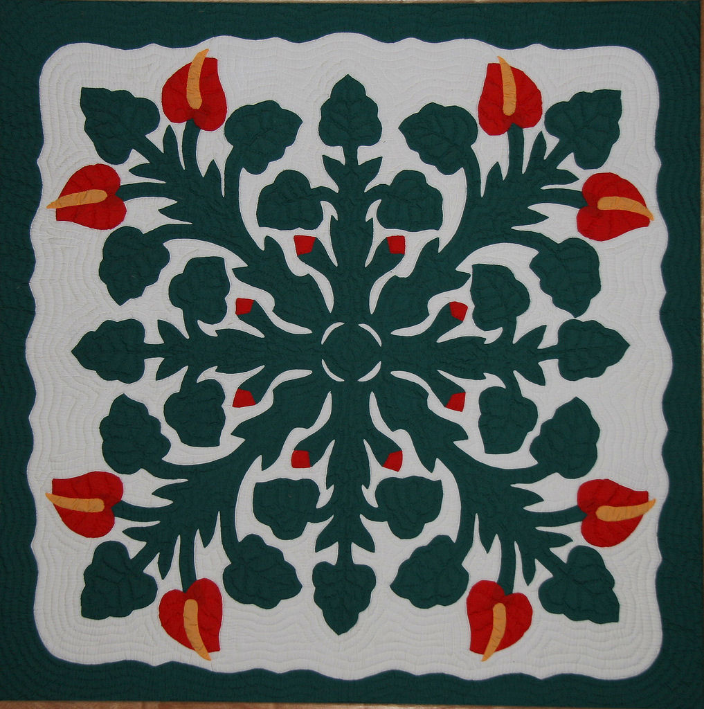 Hand Quilting in Paradise:  Hawaiian Quilts