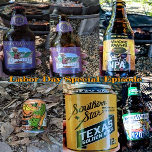 Labor Day Beer - Saint Arnolds Divine Reserve 14 & 18, Voodoo Ranger, 420 Extra Pale Ale, Texas Golden Bock, and Wick for Brains Pumpkin ale