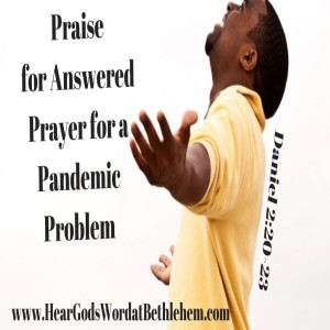 Praise for Answered Prayer for a Pandemic Problem