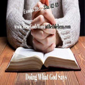 Doing What God Says