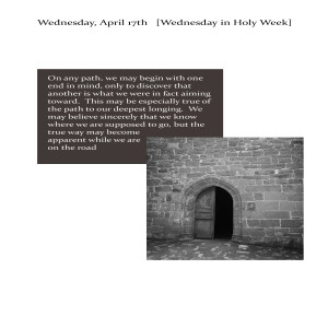 Following Jesus without Clinging to Him - Holy Week's Heart's Desire