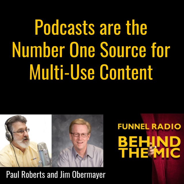 Podcasts are the Number One Source for Multi-Use Content