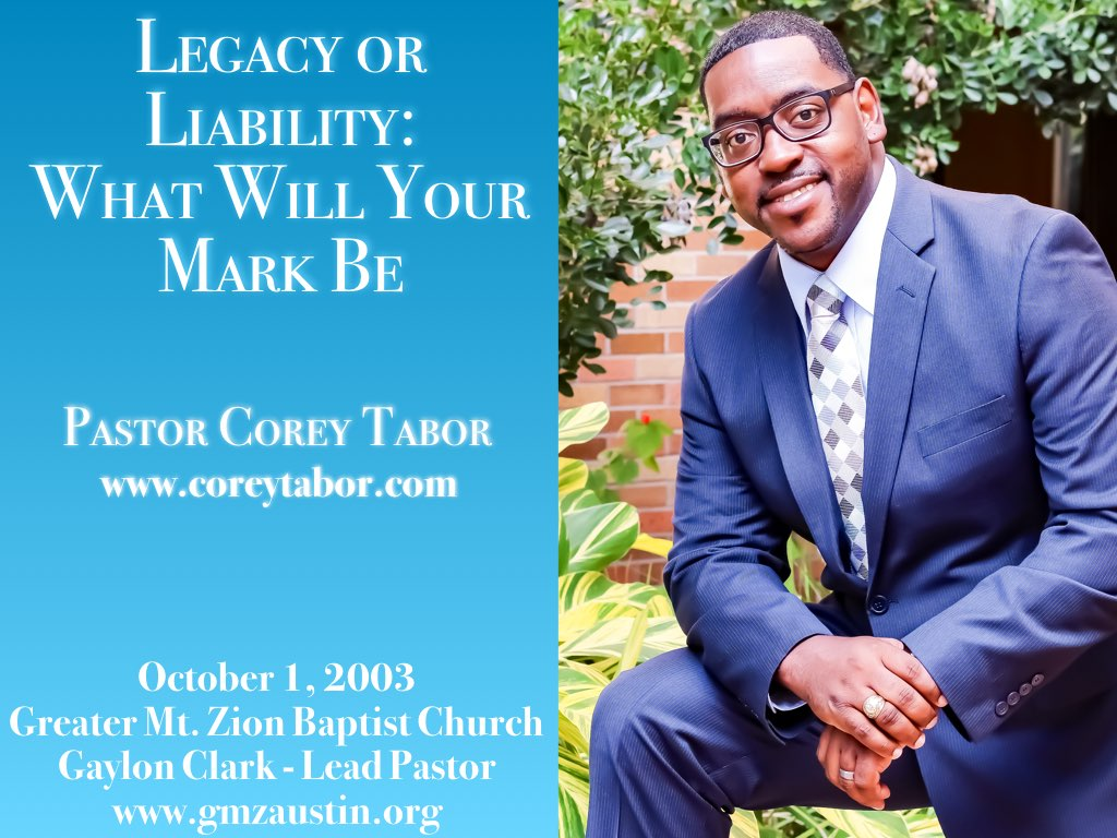 Legacy or Liability: What Will your Mark Be