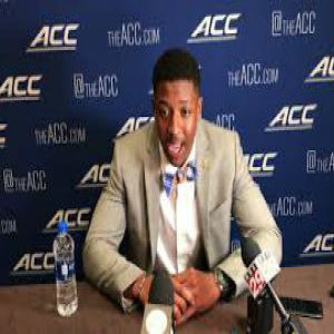 UVA cornerback Bryce Hall at 2019 ACC Kickoff
