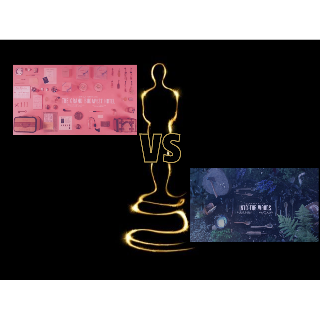 7. Grand Budapest Hotel vs Into the Woods - Best Production Design