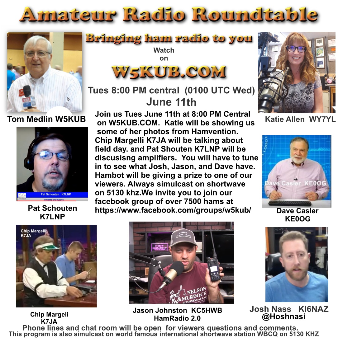 Amateur Radio Roundtable June 11, 2019