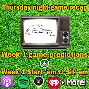 Thursday night recap & week 1 predictions