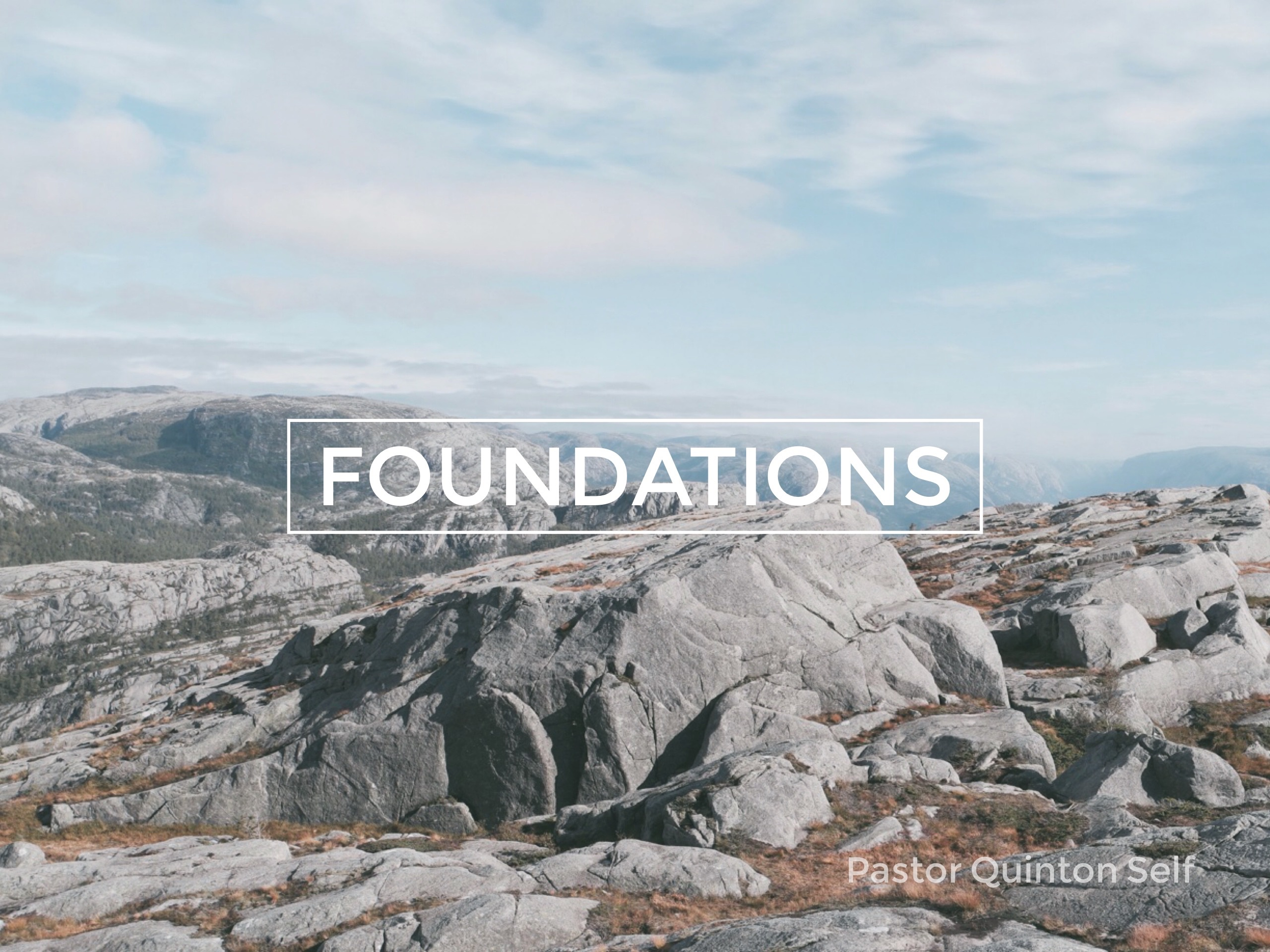 Foundations, Part 1