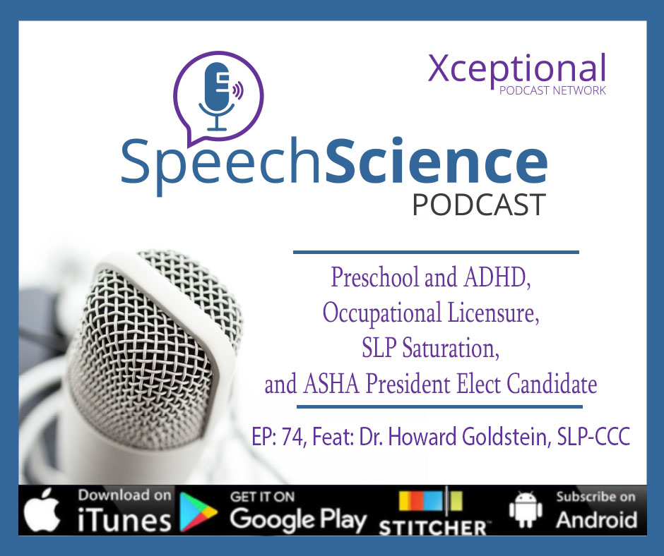 Preschool and ADHD, Occupational Licensure, SLP Saturation, and ASHA President Elect Candidate Dr. Howard Goldstein, CCC-SLP