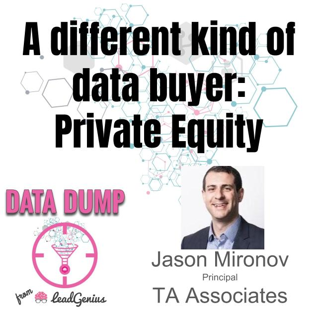 What roles do private equity investments play in the data world?