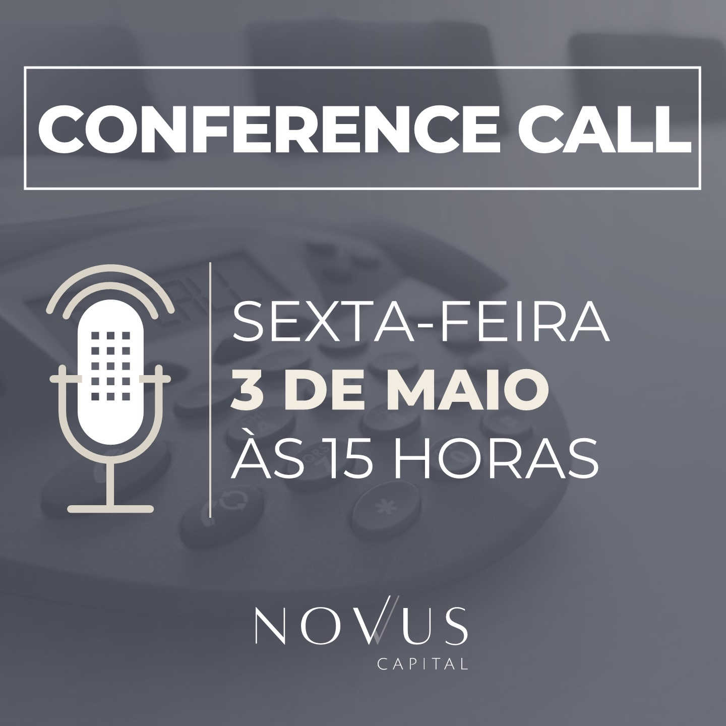 Conference Call - Abril 2019