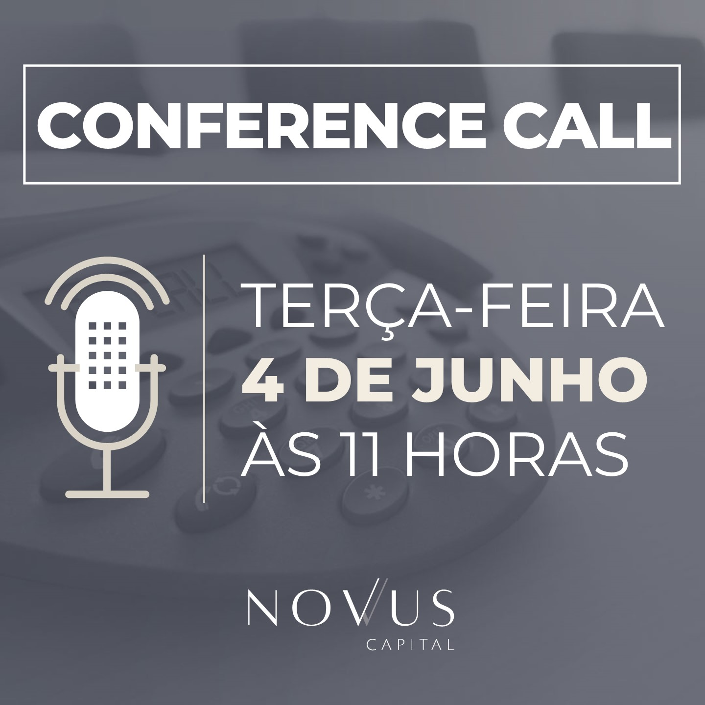 Conference Call - Maio 2019