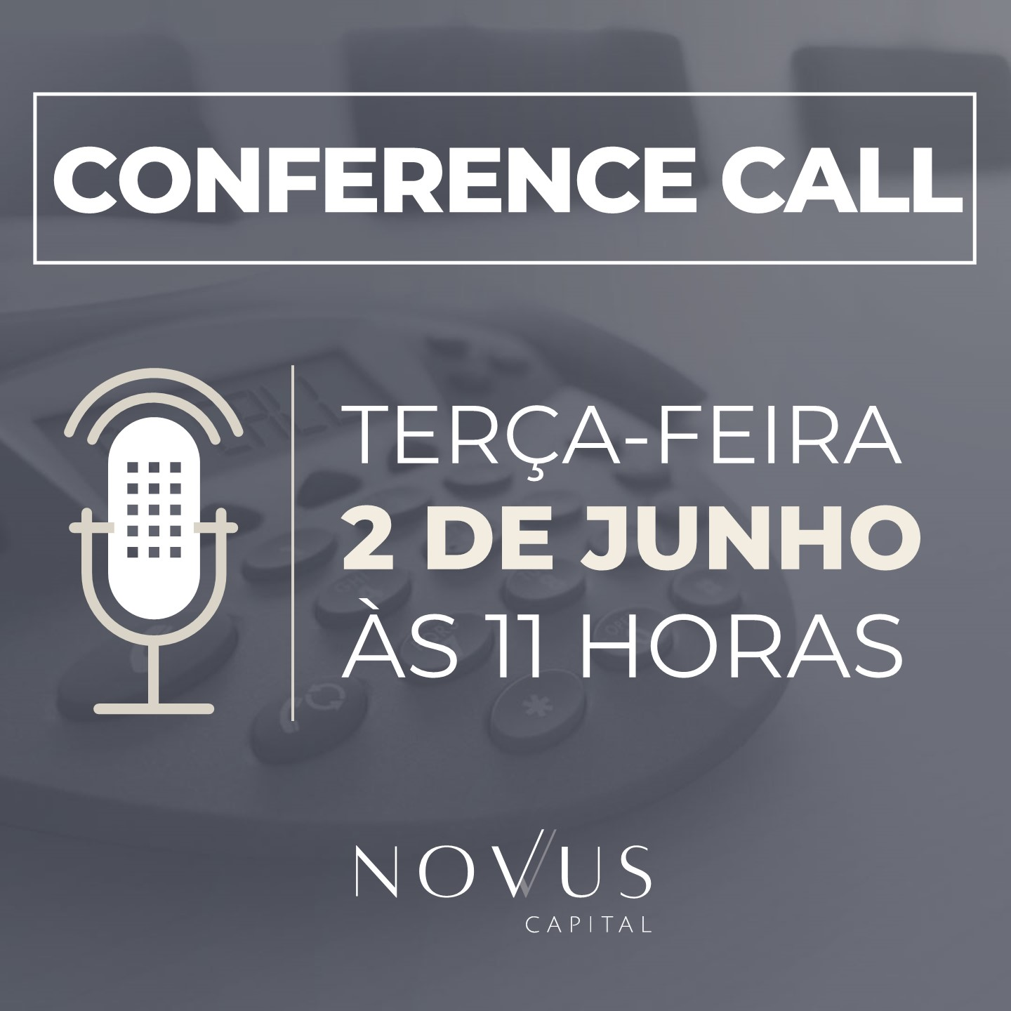 Conference Call - Junho 2019