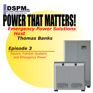 Power that Matters! Episode 3 -- DSPM's Zeus for Electric Transit Systems