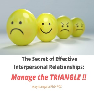 The Secret of Effective Interpersonal Relationships: Manage the TRIANGLEs!!