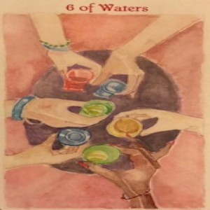 February 14, 2020 - Tarot Card of the Day - 6 of Cups (Waters)