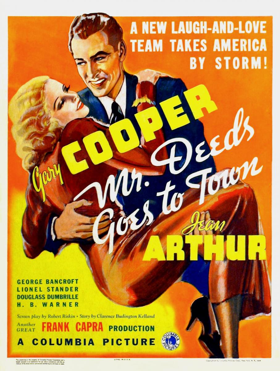 Mr. Deeds Goes to Town (Lux Radio Theater Gary Cooper Jean Arthur) Listen  Free