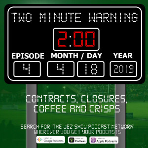 Two Minute Warning #4 - Contracts, Closures, Coffee and Crisps (April 18th, 2019)