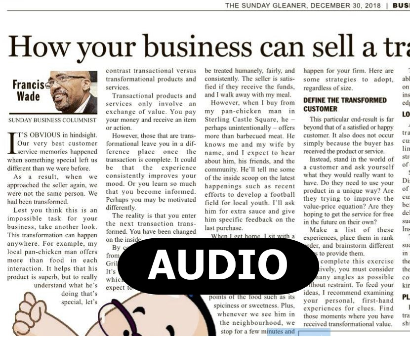 How your business can sell a transformation