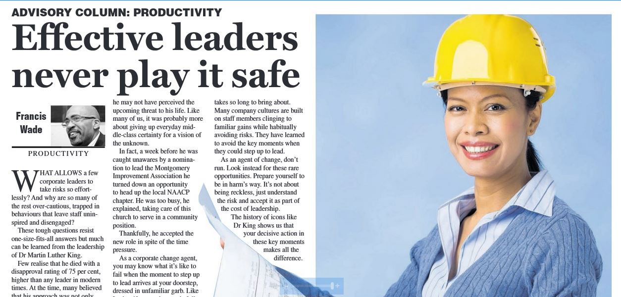 Why Effective Leaders Never Play It Safe