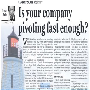 Is Your Company Pivoting Fast Enough?