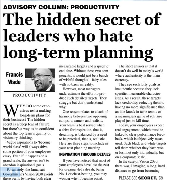 Why Leaders Hate Long-Term Planning