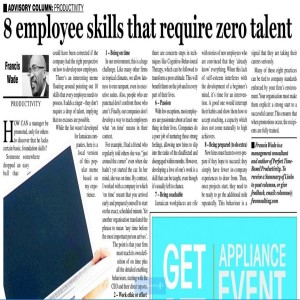 8 Skills Employees Need to Have that Require Zero Talent