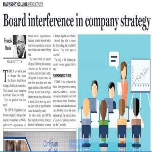 Should Your Board Interfere with Company Strategy?