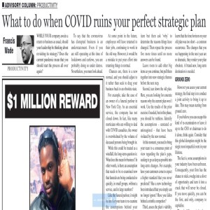 "What if COVID-19 has ruined your ""perfect"" strategic plan?"