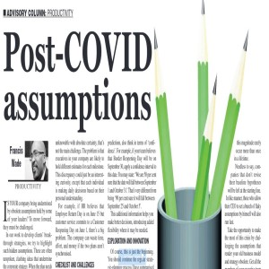 What are your executive team's new post-COVID assumptions?