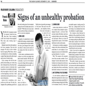 Signs of an Unhealthy Probationary Period