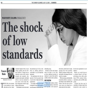 The Shock of Low Standards