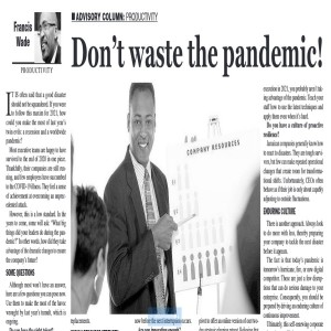 Don't Waste the Pandemic!