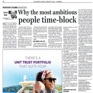 Why The Most Ambitious People Time Block