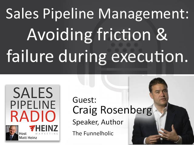 Craig Rosenberg tell us the tools that can destroy your pipeline